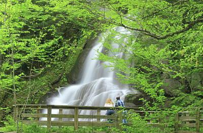 Photograph - Moss Glen Falls Vermont In Spring by John Burk