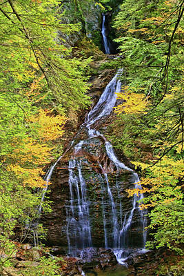 Photograph - Moss Glen Falls - Stowe, V T # 2 by Allen Beatty