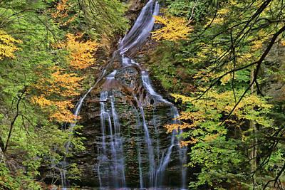 Photograph - Moss Glen Falls - Stowe, V T by Allen Beatty