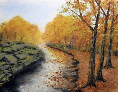 Moss On The Rocks Original by Ken Figurski