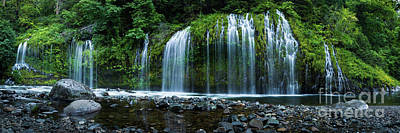 Photograph - Mossbrae Falls Panoramic by Peter Dang