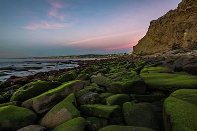 Photograph - Mossy Rocks Sunset 2 by Scott Cunningham
