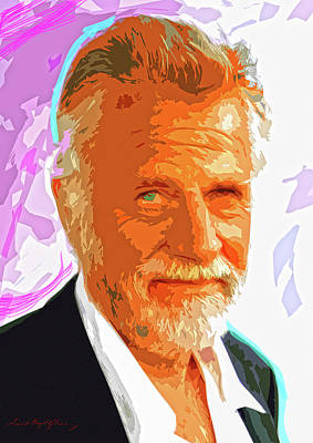 Tv Commercials Painting - Most Interesting Man by David Lloyd Glover