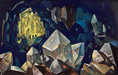Metaphor Painting - Most Sacred, Treasure Of The Mountains by Nicholas Roerich