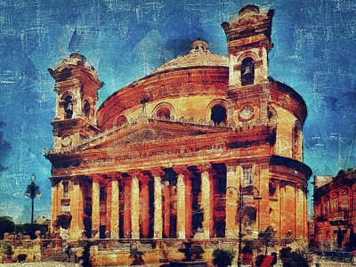 Mosta Church Art Print