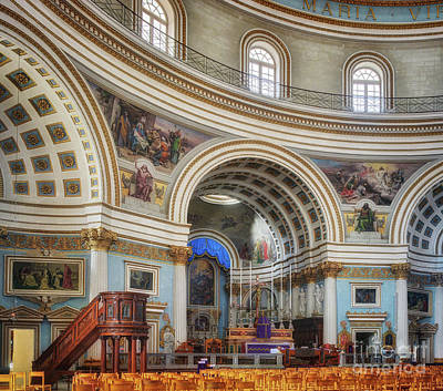 Photograph - Mosta Dome Church Altar by Stephan Grixti
