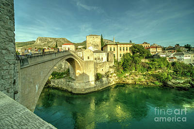 Staris Photograph - Mostar Bridge  by Rob Hawkins