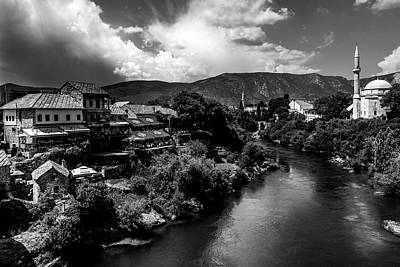 Photograph - Mostar In Black And White by Andrew Matwijec