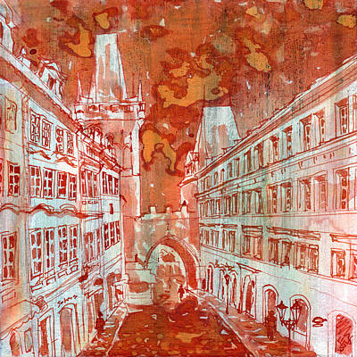 Praha Painting - Mostecka by Yevgenia Watts