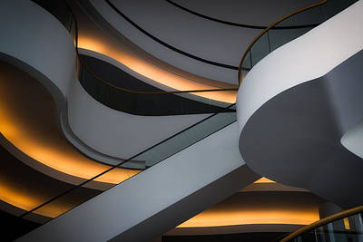 Abstract Architecture Photograph - Mostly Curves by Jacques Dube