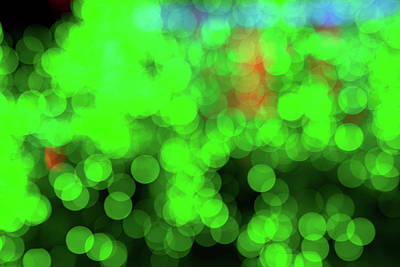 Photograph - Mostly Green Bokeh by SR Green