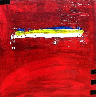 Art Print featuring the painting Mostly Red by Carolyn Repka