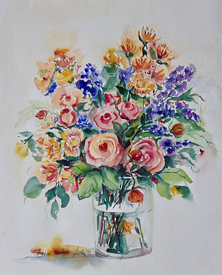 Painting - Mostly Roses by Ingrid Dohm