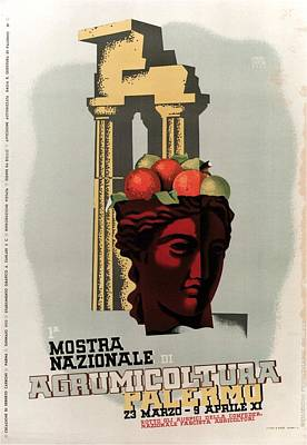Royalty-Free and Rights-Managed Images - Mostra Nazionale Di Agrumicoltura, Palermo, Italy - Retro travel Poster - Vintage Poster by Studio Grafiikka