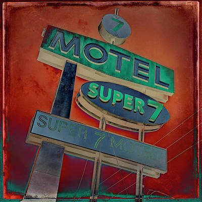 Photograph - Motel 7 #1 by Jerry Golab