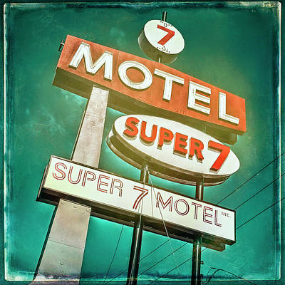 Photograph - Motel 7 #2 by Jerry Golab