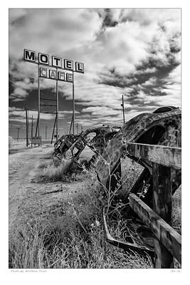 Photograph - Motel Cafe Northern Texas  by Gary Warnimont