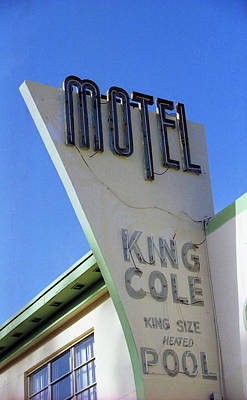 Print featuring the photograph Motel King Cole by Matthew Bamberg