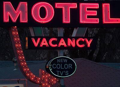 Motel-pink Art Print