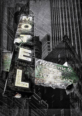 Photograph - Motel Sign by Nancie Rowan