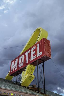 Photograph - Motel Sign by Robert Hebert