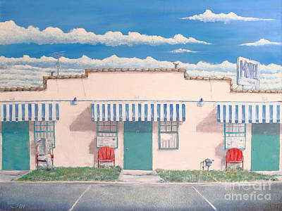Painting - Motel Six . 1989 by Wingsdomain Art and Photography