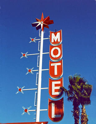 Film Photograph - Motel With Stars by Matthew Bamberg