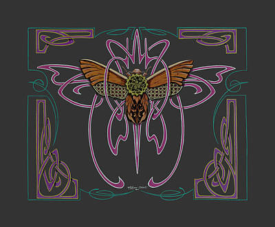 Pinstripes Painting - Moth In Gear by Dewayne Connot