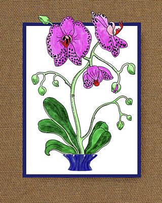 Painting - Moth Orchid Watercolor On Canvas by Irina Sztukowski
