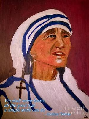 Mother Theresa Painting - Mother by Aat Kuijpers