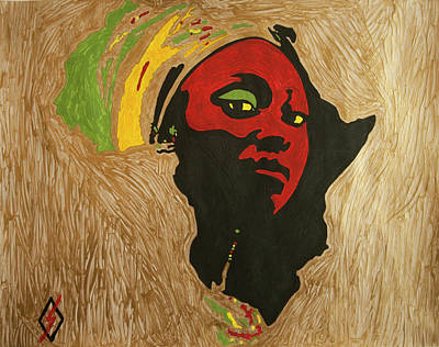 Painting - Mother Africa by Stormm Bradshaw
