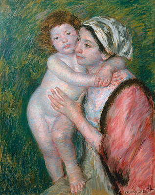 Pastel - Mother And Child, 1914 by Mary Cassatt