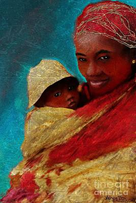 Mixed Media - Mother And Child 2 by Vannetta Ferguson