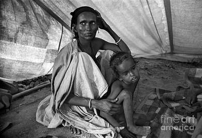 Photograph - Mother And Child Await For Better Times, African Diaspora by Wernher Krutein