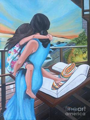 Philippines Painting - Mother And Child - Breeze by Ferdz Manaco