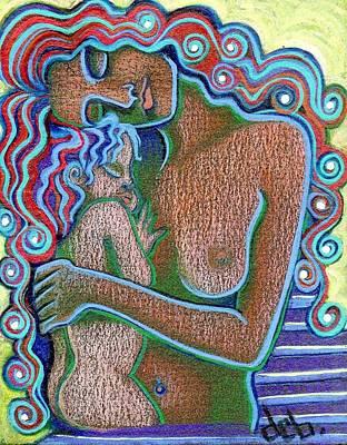 Painting - Mother and child Caribbean Sun by Deborah jordan Sackett
