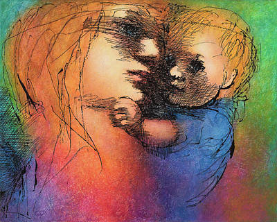 Mother And Child Art Print by Claire  Szalay Phipps