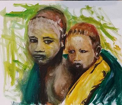 Painting - Mother And Child by Courtney Wilding