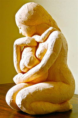 Sculpture - Mother And Child by Deborah Dendler