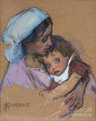 Adela Painting - Mother And Child by MotionAge Designs