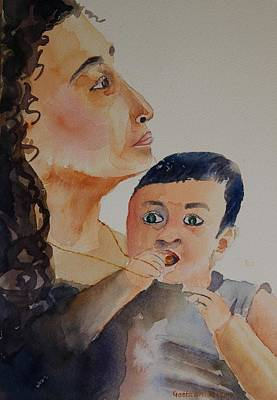 Painting - Mother And Child by Geeta Biswas