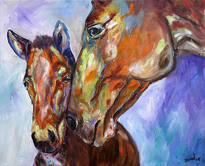 Mother And Child Art Print by Mary Jo Zorad
