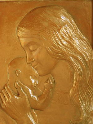 Relief - Mother And Child Relief  by Deborah Dendler