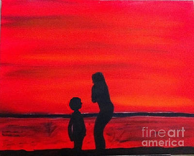 Mother And Child Art Print by Rod Jellison