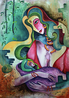 Painting - Mother And Child by Rohan Sandhir