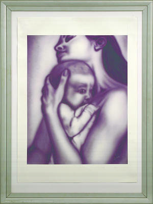 Painting - Mother And Child by Sethu Madhavan