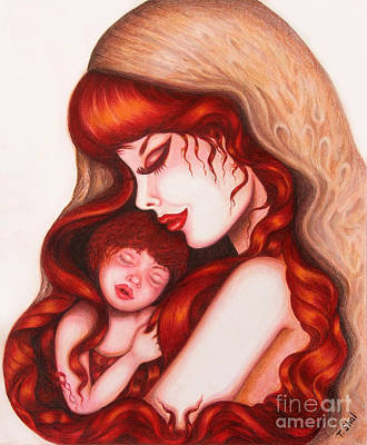 Drawing - Mother And Child  by Tara Shalton