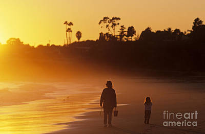 Photograph - Mother And Daughter Along Beach by Jim Corwin