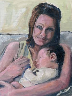 Painting - Mother And Daughter by Donna Tuten