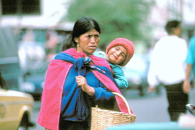 Art Print featuring the photograph Mother And Daughter Ecuador by Douglas Pike
